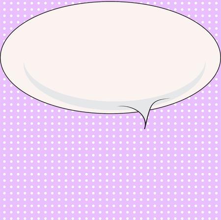 Blank comic bubble speech in pop art style, cartoon background, comic background, comic strip