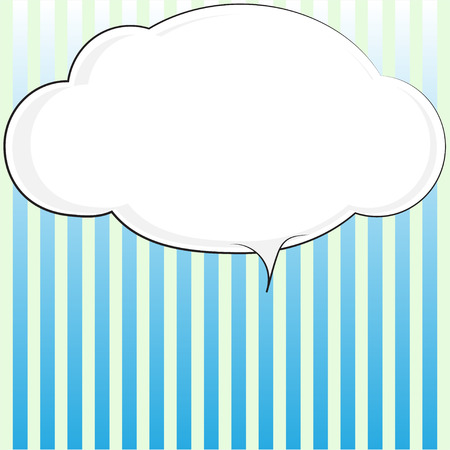 Blank comic bubble speech in pop art style on stripes background, cartoon background, comic background, comic strip  Vector