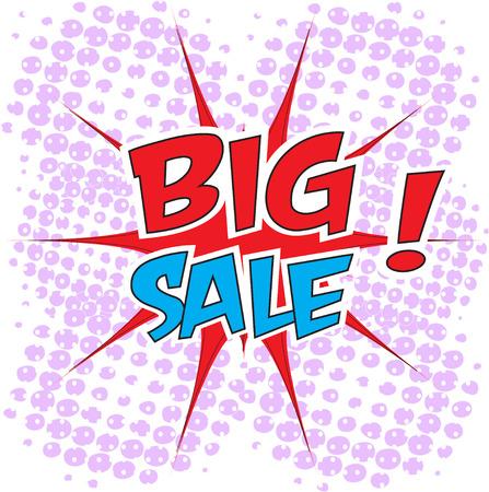 bomb price: Big sale wording in comic bubble speech in pop art style
