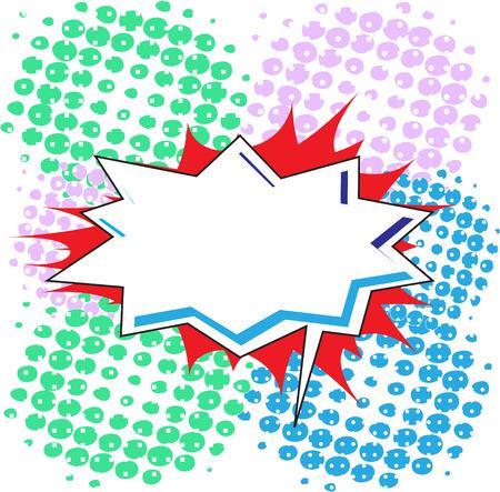 Blank Comic Speech Bubble In Pop-Art Style, Cartoon Vector