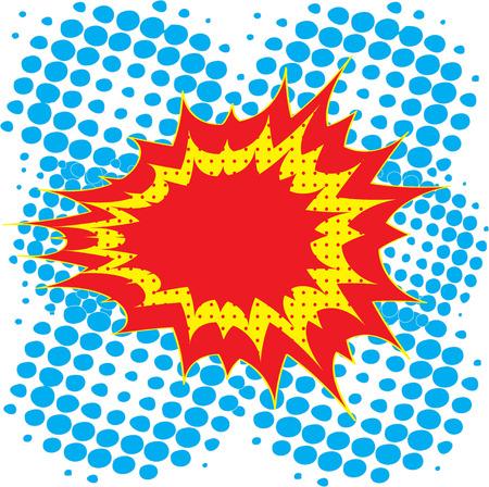 blank bomb: Blank Comic Speech Bubble In Pop-Art Style, Cartoon