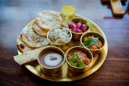Meals set meal of the Indian national staple curry