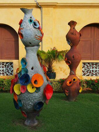 art: Art in museum, Ratchaburi province, Thailand Stock Photo