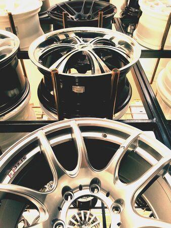 max: Design of max wheels Stock Photo