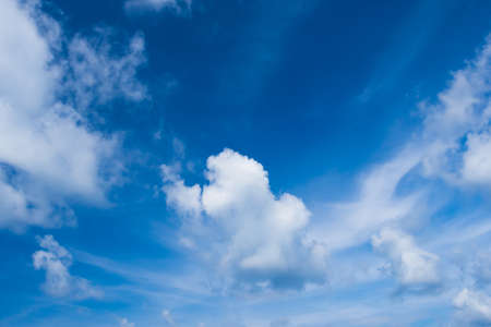clear sky: white cloud and clear blue sky