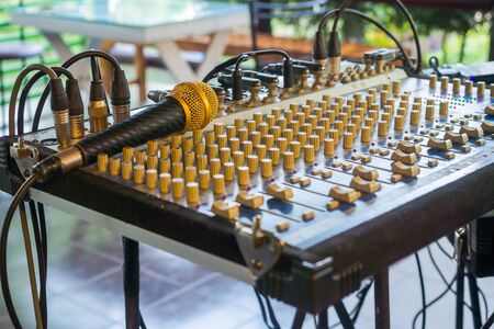 amplification: Set of control sound for outdoor music