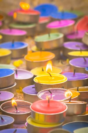 blessings: Candlelight form people  who seek blessings from God