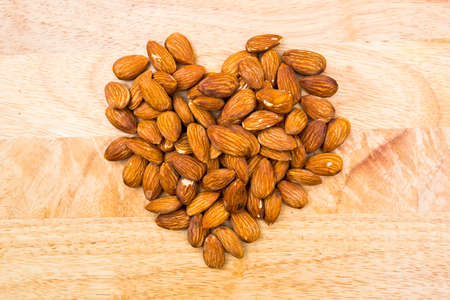 nutshells: Organic dried almonds forheart and healthy