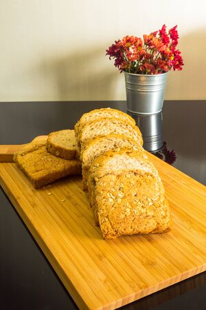 Organic wheat bread for healthy life, Still life Stock Photo