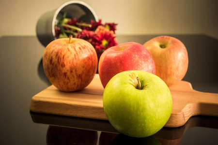 colorful still life: Organic colorful apples for healthy life, Still life