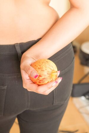 oversize: Fresh fruit is good for woman to lose weight