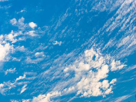 cumuli: Pattern white cloud and clear blue sky