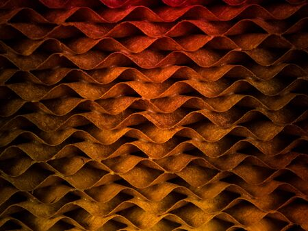 papel filtro: Pattern and texture from wave filter paper Foto de archivo