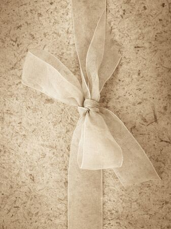 natural paper: Pattern and texture from soft natural paper and bow