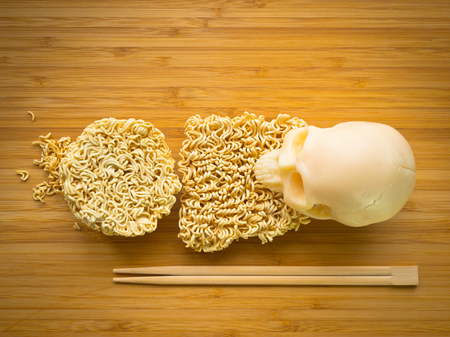 Eating instant noodles is excessively harmful to health Stock Photo