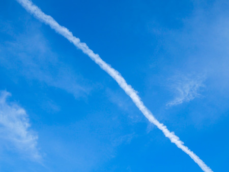 Pattern from white cloud and clear blue sky