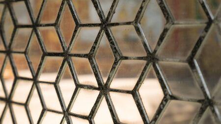 espejo: mosaico de vidrio
