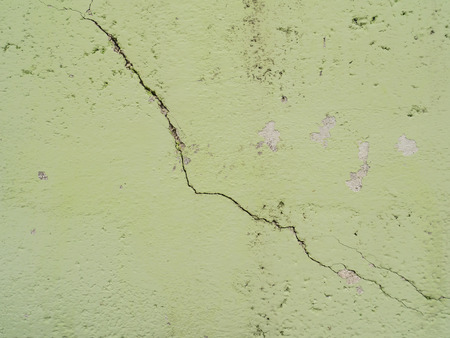 split level: wall with cracks
