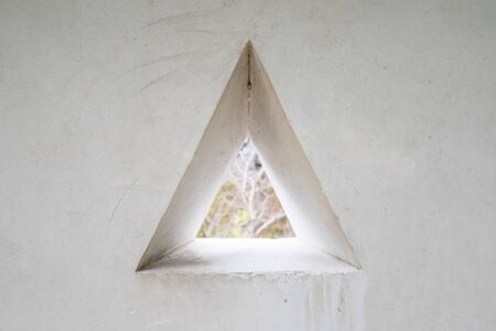 triangle shape: Wall With Triangle Shape Window