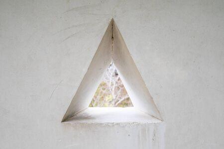 triangle shape: Wall With Triangle Shape Window