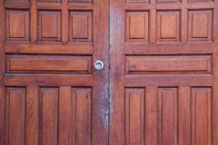 stoop: close up wooden door Stock Photo