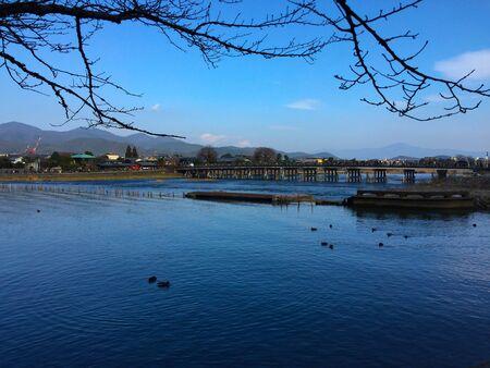京都湖 写真素材