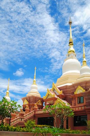 white pagoda at the Thai temple,Thailand Stockfoto