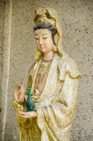 buddha statue: Statue of Guanyin buddha in Guanghua temple. Stock Photo