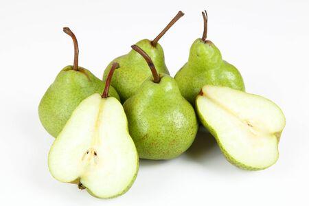 halved  half: pears Stock Photo