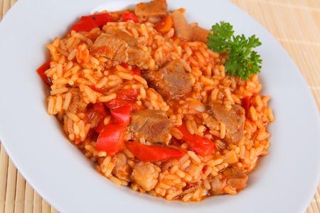 salsa de tomate: arroz y salsa de tomate