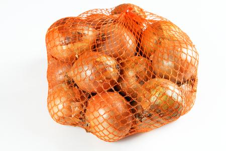 onions in net Stok Fotoğraf - 57028173