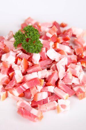 pancetta cubetti: bacon Archivio Fotografico