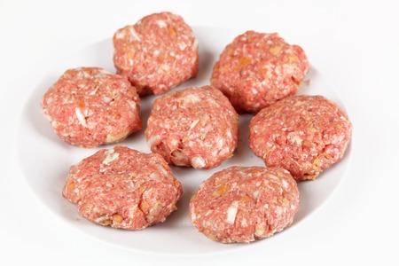 raw: raw meatballs Stock Photo