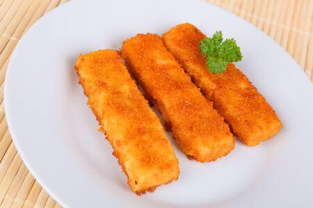breading: fish fingers