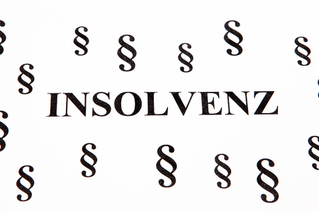 proceedings: Insolvency Stock Photo