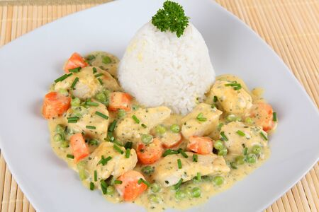fricassee: chicken with rice