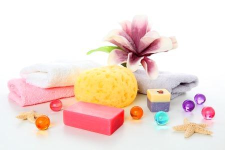 bath: bath accessories Stock Photo