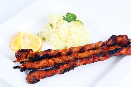 carnes y verduras: pinchos