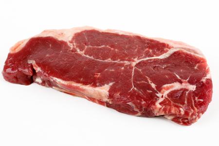 beefsteaks: raw rump steak with white background
