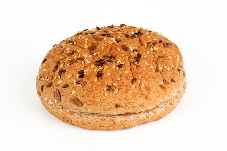 one bun for a burger with grain