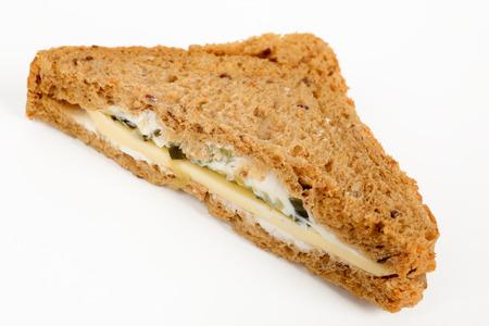 halved multigrain sandwich with cheese