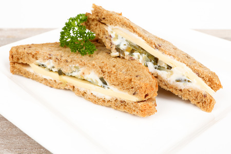 multigrain sandwich with cheese on a plate