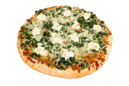 cutout pizza with spinach and ricotta