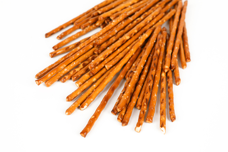 A few salt sticks with white background