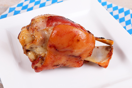 a bavarian grilled pork knuckle