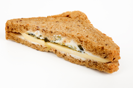 halved multigrain sandwich with cheese