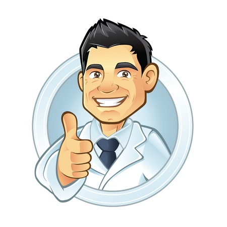 male dentist: dentists smiling thumbs-up