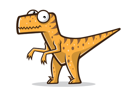 cartoon velociraptor was standing with two legs Illusztráció