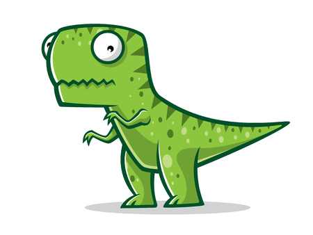Cartoon t-rex was standing with two legs