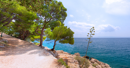 azure: Azure sea at Makarska rivera, Croatia